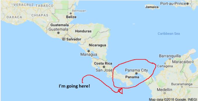 I'm going toPanama!